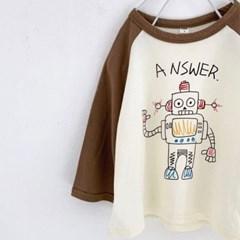 디) 로봇 아동 티셔츠