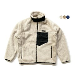 패치 시어링 플리스 재킷 PATCH SHEARLING FLEECE JACKET (3color)