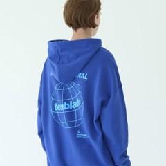 글로버 로고 후드 티셔츠 블루