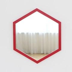 레인보우 육각 벽거울