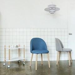 졸리 패브릭 체어 식탁의자 (그레이/인디블루) JL01