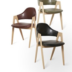 이자벨 레더 의자 식탁의자 (블랙/와인/카키) IS02