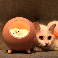 리틀 캣 하우스 무드등 특이한 캐릭터 타이머 실리콘 아기방꾸미기