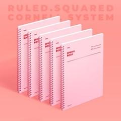 [모트모트] 스프링북 - 로즈쿼츠 (룰드/스퀘어드/코넬시스템) 5EA