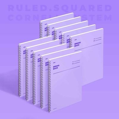 스프링북 - 바이올렛 (룰드/스퀘어드/코넬시스템) 10EA