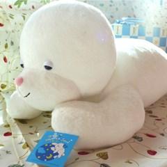 낮잠자는하얀물개인형