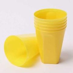 칼라 파티컵 사각-옐로우(6입)