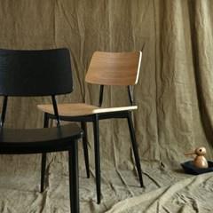 아베크 원목 의자 식탁의자 (블랙/우드) AC04