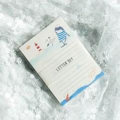 디원 고래와 새우 편지지 (YL27)