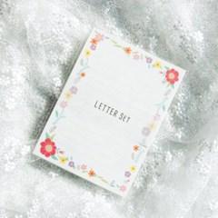 디원 꽃송이 편지지 (JL10)