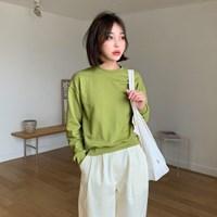 [MADE] 세미 크롭 맨투맨 (5colors)
