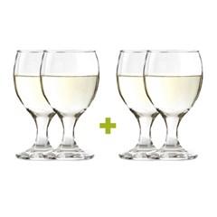 [할인행사]다용도 부페 물잔 와인잔2P+2P세트 285ml