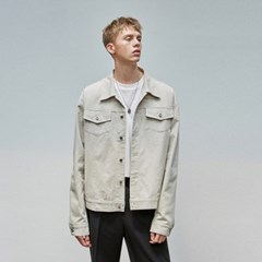 OVERSIZE TRUCKER JACKET_CREAM