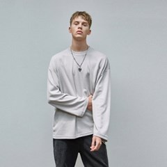 MILD OVER KNIT T-SHIRTS_GRAY