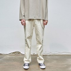 WIDE COTTON PANTS_LIGHT BEIGE