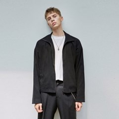 CLEAN ZIP-UP BLOUSON JACKET_BLACK