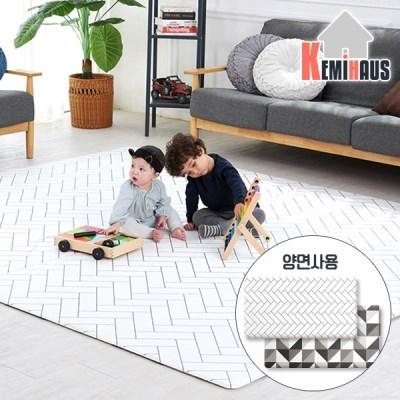 케미하우스 디자인 놀이방 매트 / 화이트헤링본 1.3T