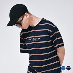 (UNISEX) 인터내셔날 스트라이프 로고 티셔츠 2COLOR_(785924)