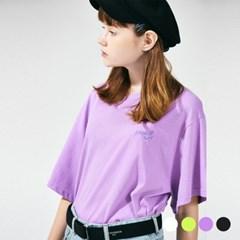 (UNISEX) 스탠다드 자수 로고 티셔츠 4COLOR_(785936)