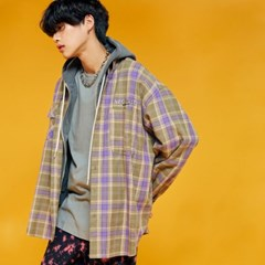 NEONDUST. 19F Check Shirt PURPLE