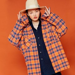 NEONDUST. 19F Check Shirt ORANGE