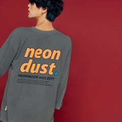 NEONDUST. 19F Long T-Shirt DARK GRAY