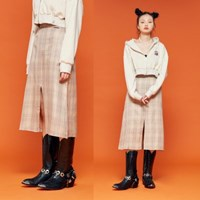 NEONMOON 19F Check Skirt PURPLE