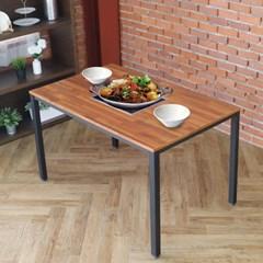 [리코베로] 카디스 인덕션 멀바우 철제 식탁테이블 1200