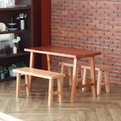 [리코베로]라가초 소나무원목 4인용 식탁세트 2컬러
