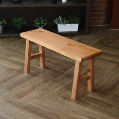 [리코베로] 라가초 소나무원목 벤치의자 식탁의자 2컬러