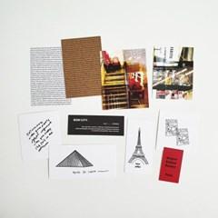 본시티 Paris 페이퍼카드 세트