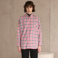 플란넬 체크 셔츠 #1 PINK_(1272417)