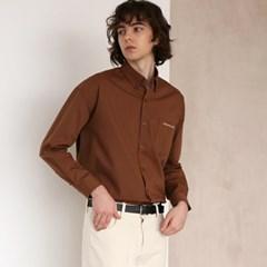 코튼 트윌 셔츠 #19 BROWN_(1272405)