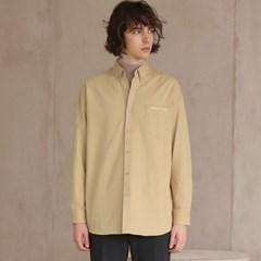코튼 트윌 셔츠 #9 BEIGE_(1272404)