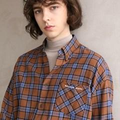 플란넬 체크 셔츠 F-B0503 #2 BROWN_(1272410)