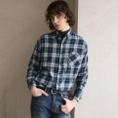 플란넬 체크 셔츠 F-B0508 #2 NAVY_(1272409)