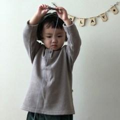 랄) 단추 아동 티셔츠