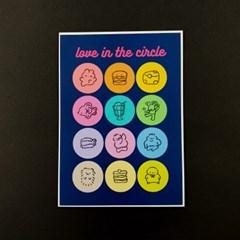 [솝찌] Love in the circle 원형 스티커