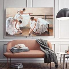 리허설 전의 발레리나들 캔버스그림