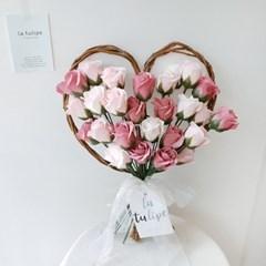 사랑스럽고 로맨틱한 러빙유 비누꽃 하트꽃다발 부케