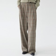 fall check wide pants_(1337126)