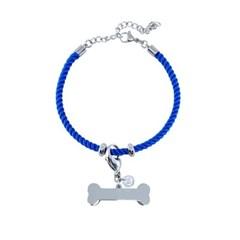 뼈다귀 로프 강아지 인식표 목걸이_ Royal blue