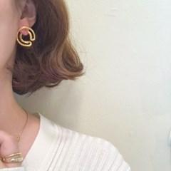 [원터치 링 귀걸이] 시컬링 이어링