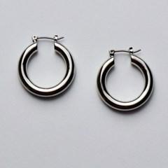 Hoop Silver Ring Earring