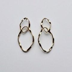 Twist Drop Ring Earring