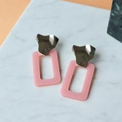 Pink Frame Earring
