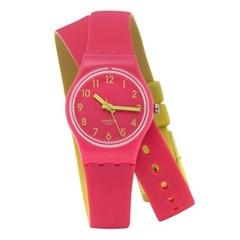 SWATCH 스와치 LP131 여성용 쿼츠 실리콘 시계_(1145362)