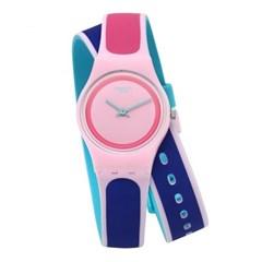 SWATCH 스와치 LP140 여성용 쿼츠 실리콘 시계_(1145363)