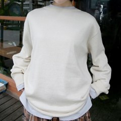 simple round neck knit (3colors)_(1337476)