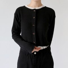 round shorts basic cardigan (5colors)_(1337828)